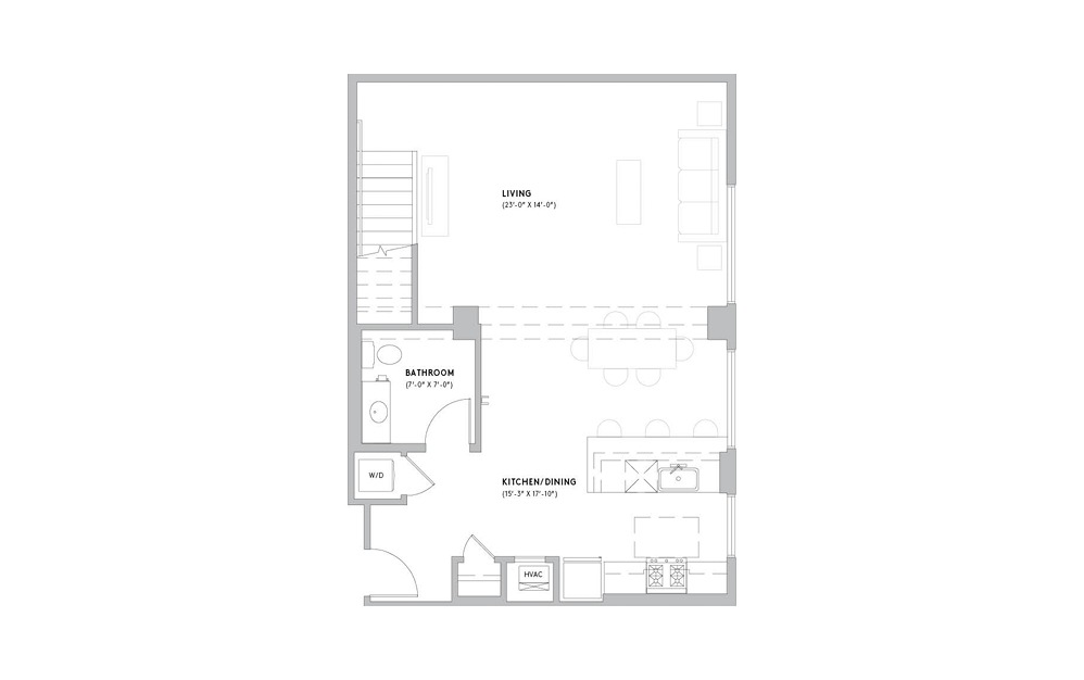 L3 - 1 bedroom floorplan layout with 1.5 bath and 1211 to 1444 square feet. (Floor 1)